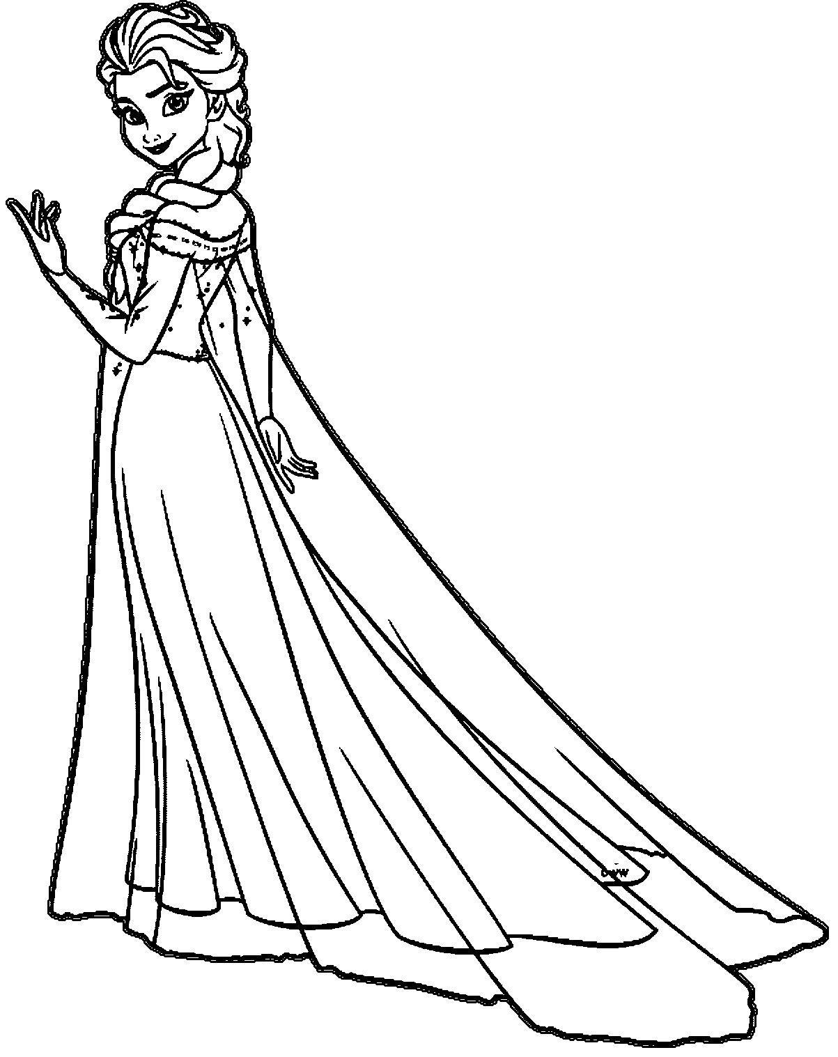 18 Coloring Pages Princess Elsa Princess Coloring Pages Elsa Coloring Pages Elsa Coloring