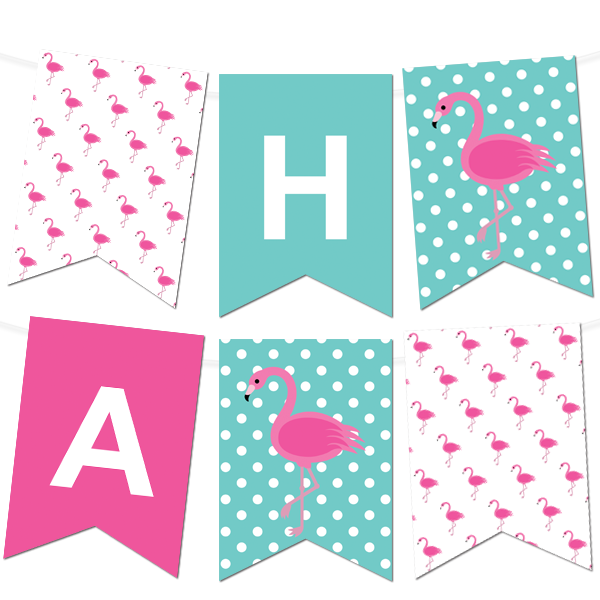 Flamingo Polka Dot Pennant Banner Projects To Try Pinterest