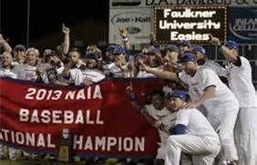 Faulkner University New Naia World Series Champions Outdoors Alabama Faulkner University Faulkner World Series