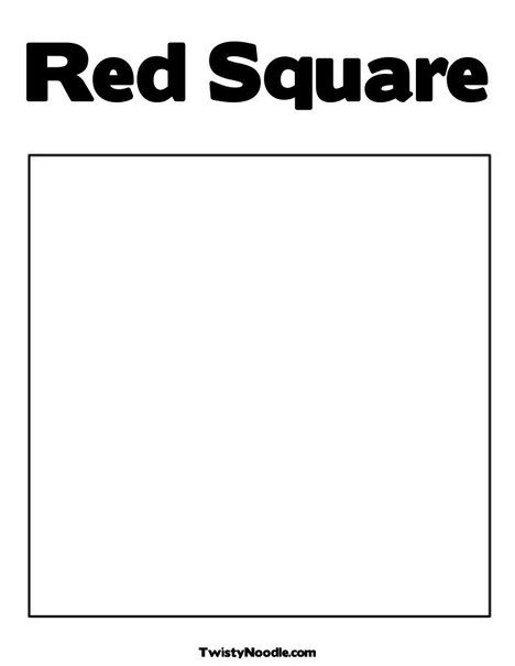 Red Square Coloring Page From Twistynoodle Com Square Logo