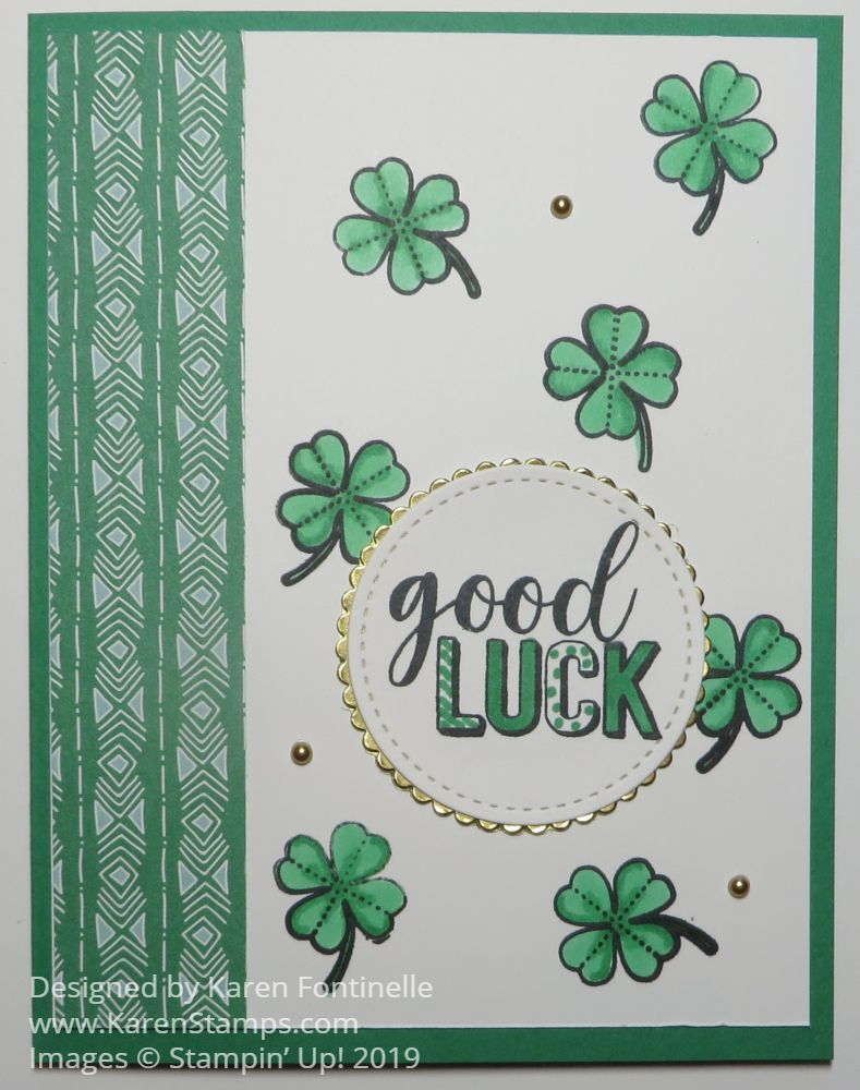 St Patrick S Day Shamrock Card Make Your Own Card Cards