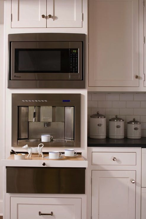 Microwave And Coffee Station Built In Cabinets Google