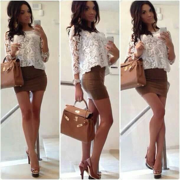 nice cream skirt..can use for slutty office or back from work type of outfit..successful  older woman vibe.