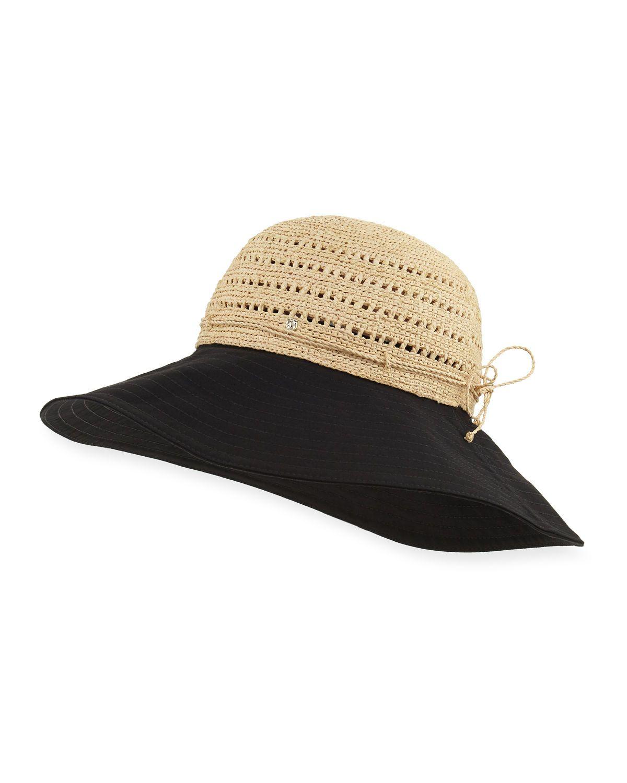 Kessy Raffia & Cotton Sun Hat