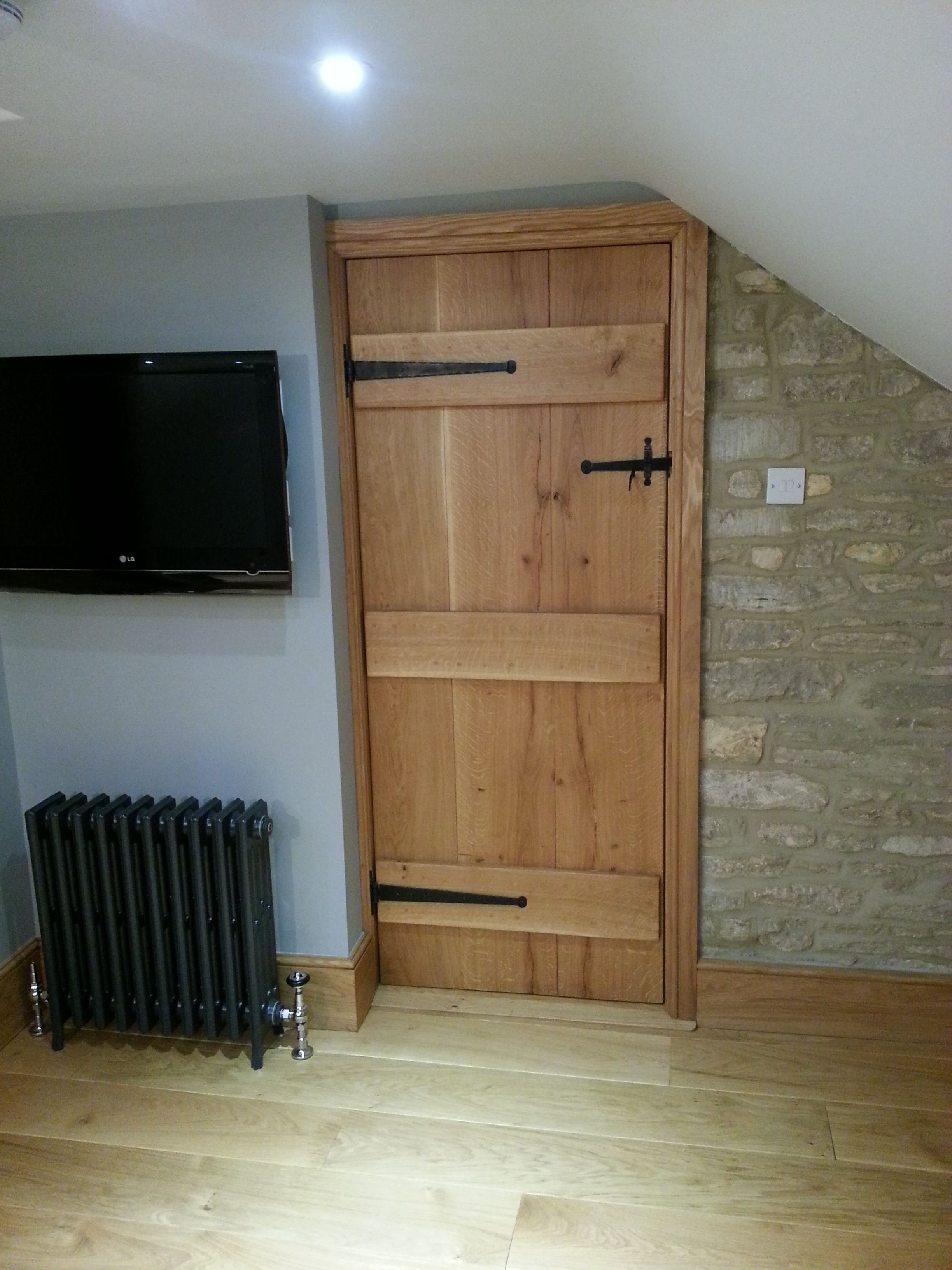 Solid Oak Barn Door, Cottage Ledged Door, wooden cottage