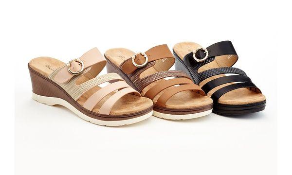 811e873d6 Lady Godiva Yvette Women s Comfort Wedge Sandals (Sizes 7.5