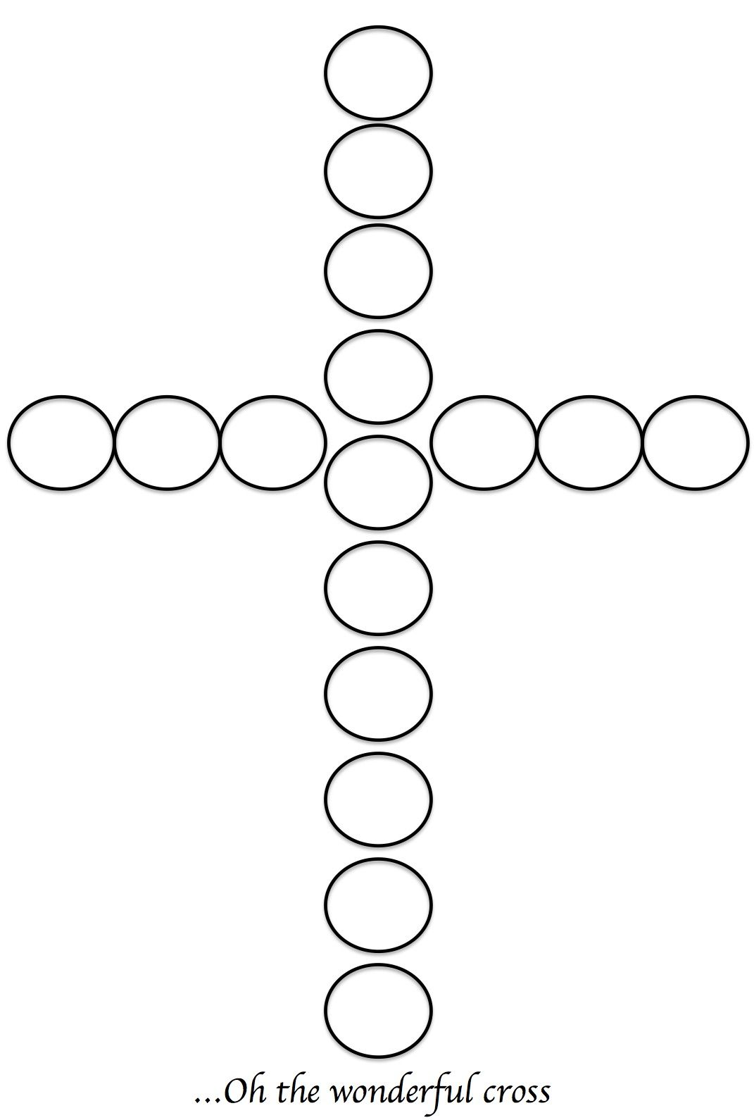 Bingo Dotter Cross Or You Can Use Dot Circle Stickers