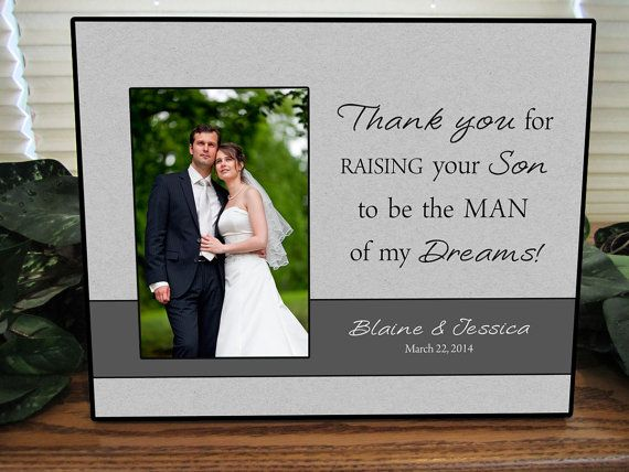 Father In Law Wedding Gifts: Gift For The Parents Of The Groom, Custom Frame Parent