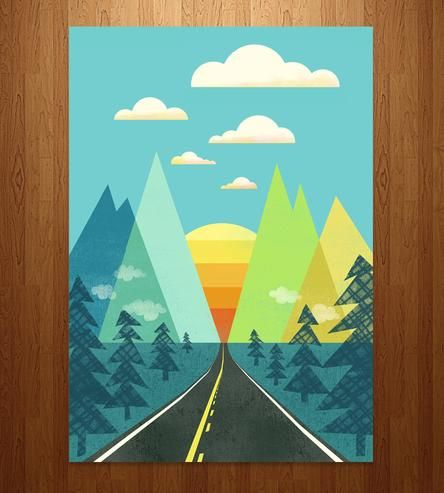 Scratch that itch for wandering, if only temporarily, with this adventure-inducing print. It's a giclee print of the maker's original illustration, and it features a long road leading straight to the mountains. That's the best kind of road, if you ask us.