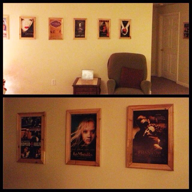 New Decor for my basement/movie room. Book Cover / Movie Poster Art!