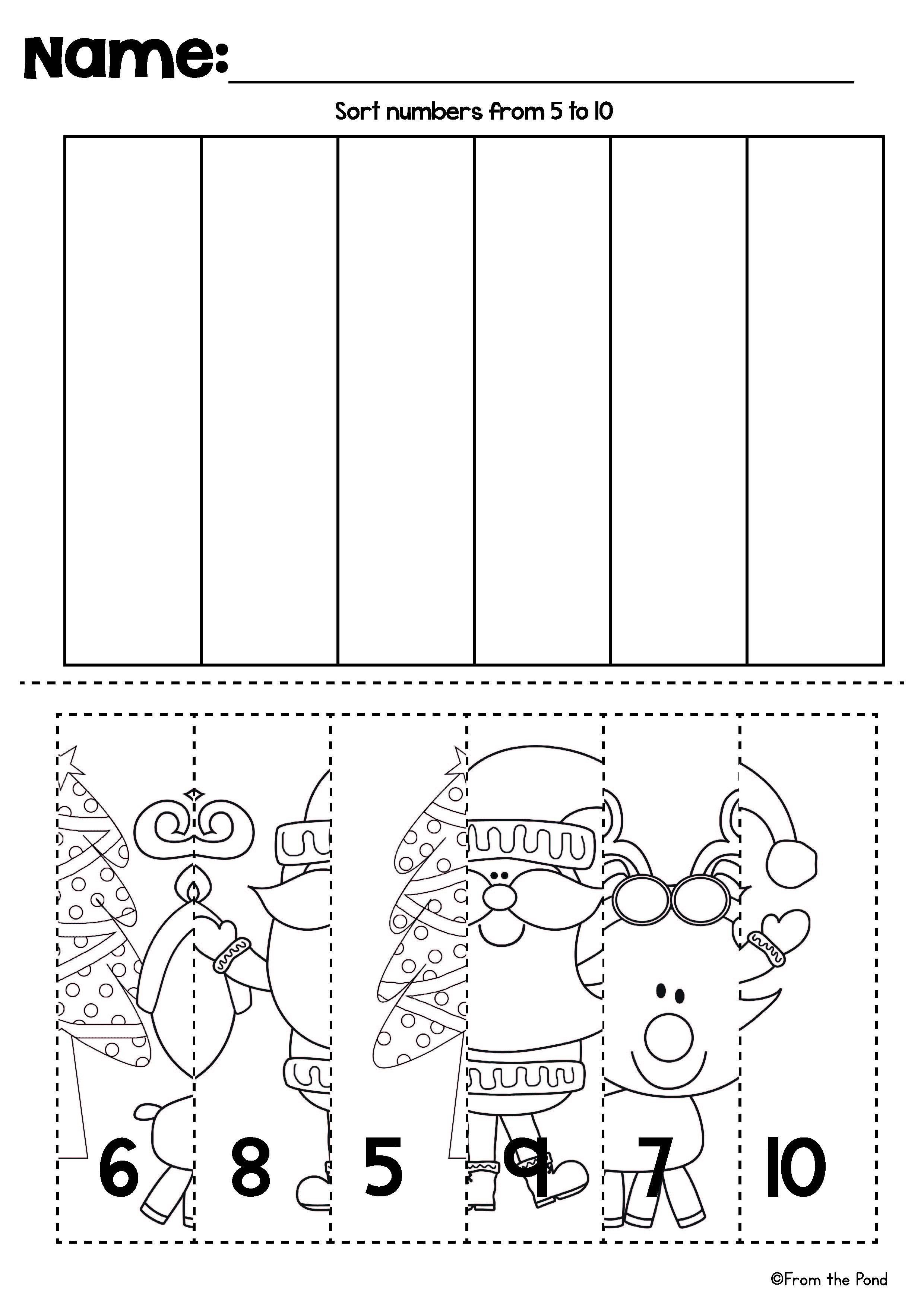 Christmas Number Line Puzzles | Mathe, Arbeitsblätter und Mathematik