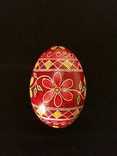 Pysanky egg decorative egg art Ukrainian Easter egg Ukrainian folk art hand painted egg thoughtful gift for her Easter ornament