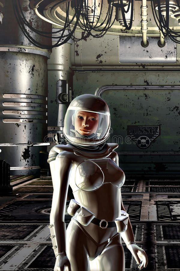 Nude astronaut babe