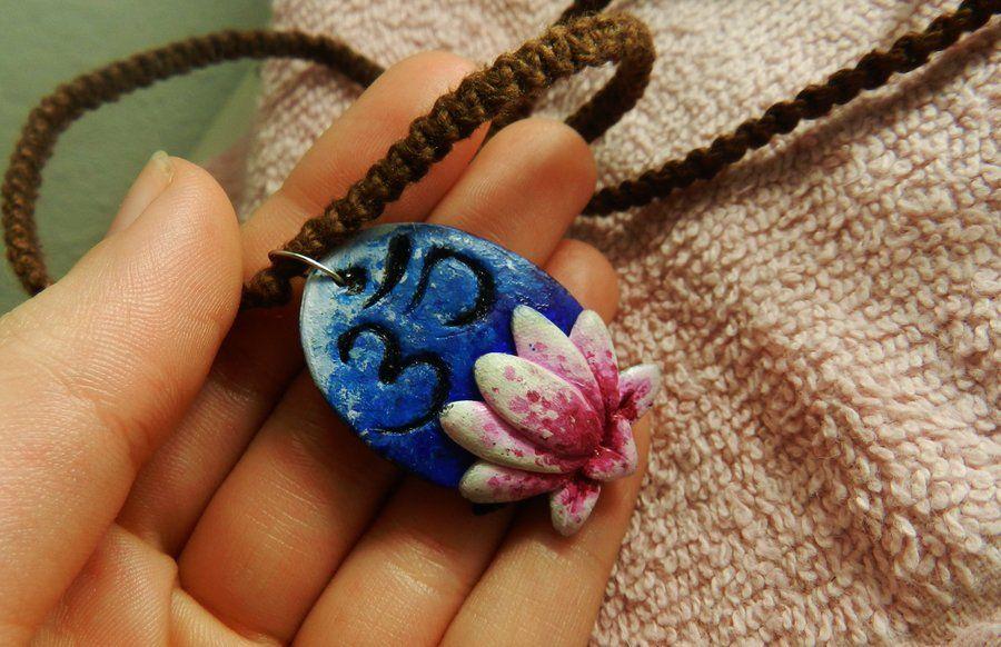 Lotus Om pendant by PoisonJARCreations.deviantart.com on @deviantART