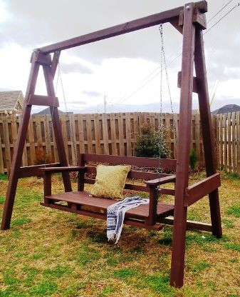 Magnificent Diy Garden Swing Bench Project Garden Backyard Swing Pabps2019 Chair Design Images Pabps2019Com