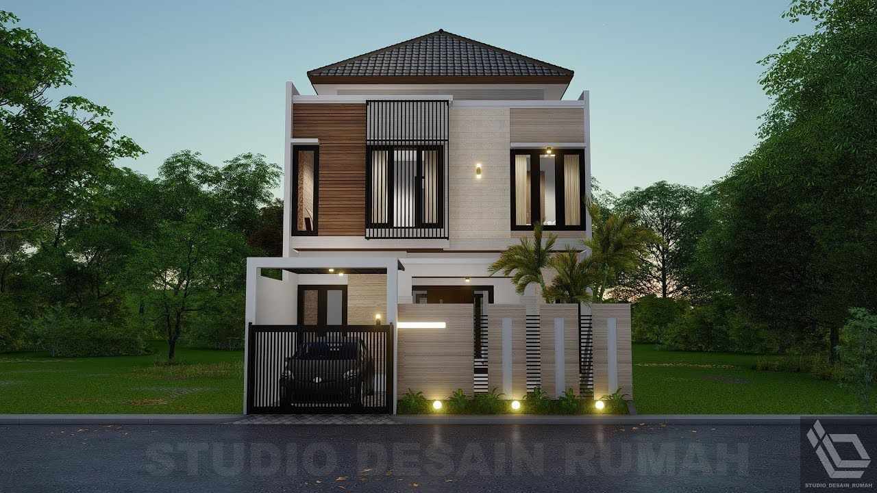Desain Rumah Dua Lantai 8m X 15m 4 Kamar Tidur Desain Rumah Home Fashion Desain
