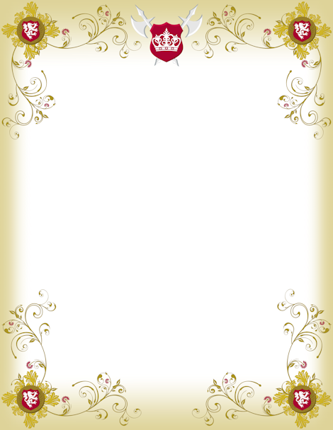 Printable medieval border free gif jpg pdf and png for Tudor menu template
