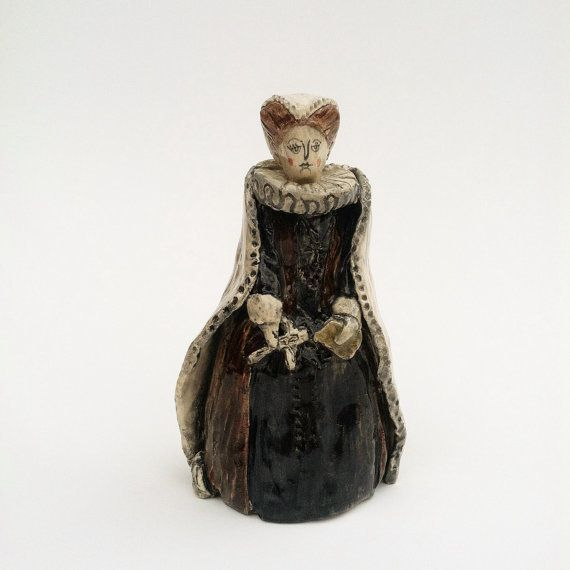 Mary Queen of Scots ceramic miniature figure perfume by artknacky