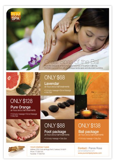 Beauty Spa Flyer  Inspiration Graphic Design    Spa