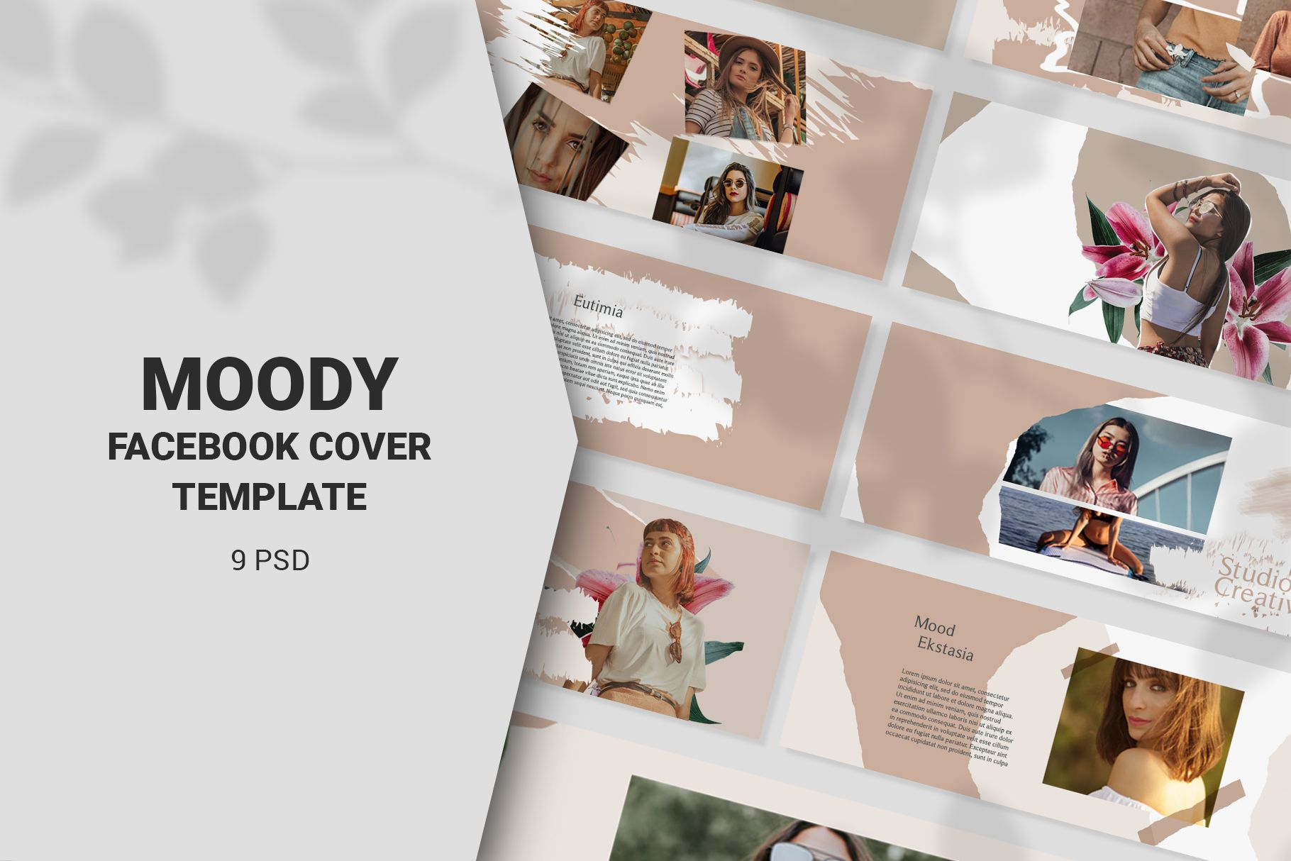 Moody Facebook Cover Templates 434915 Web Elements Design Bundles Facebook Cover Template Cover Template Facebook Cover