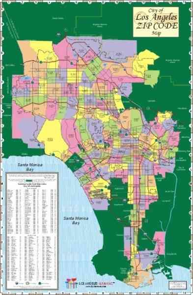 Los Angeles Map By Zip Codes.Los Angeles County Zip Code Map Maps