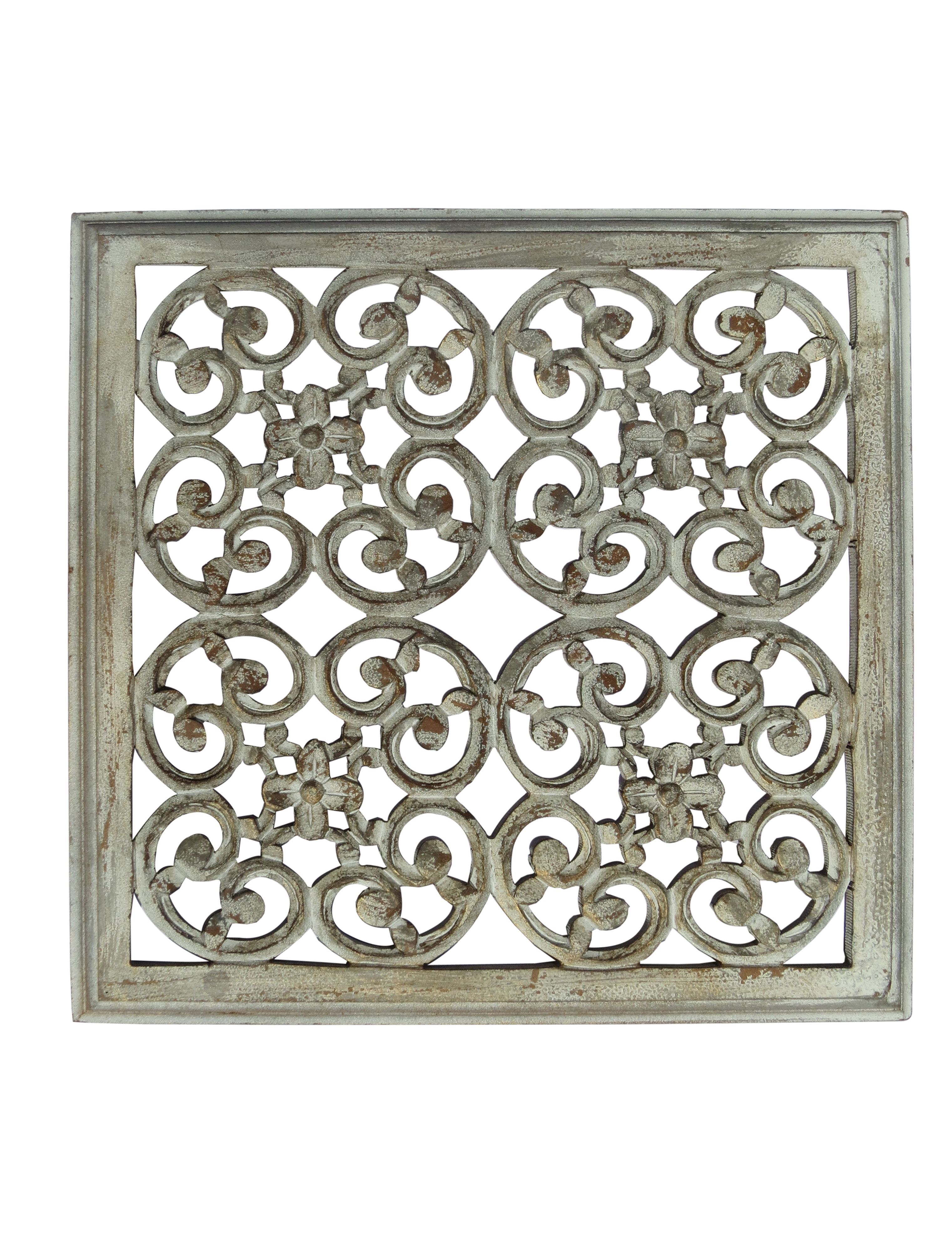 Mdf Carved Panel Design In White And Brown Antique Finish Reliable Durable Indian Authentic Handicrafts With Hand Carved Wood Wood Paneling Class Decoration