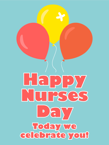 Celebrating you happy nurses day card add some cheer to a nurses happy nurses day card birthday greeting cards by davia m4hsunfo