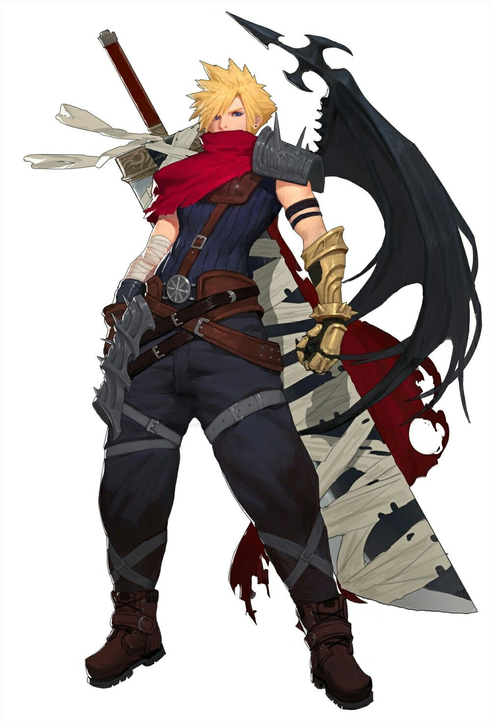 Cloud Strife Kingdom Hearts Final Fantasy Cloud Final
