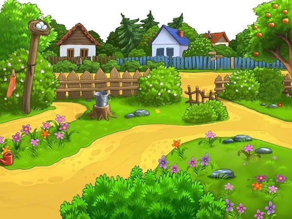 Los Ninos Son El Presente Al Jardin De La Alegria Al Jardin De La Alegria Q Fondos De Dibujos Animados Jardin Animado Fondos De Jardines