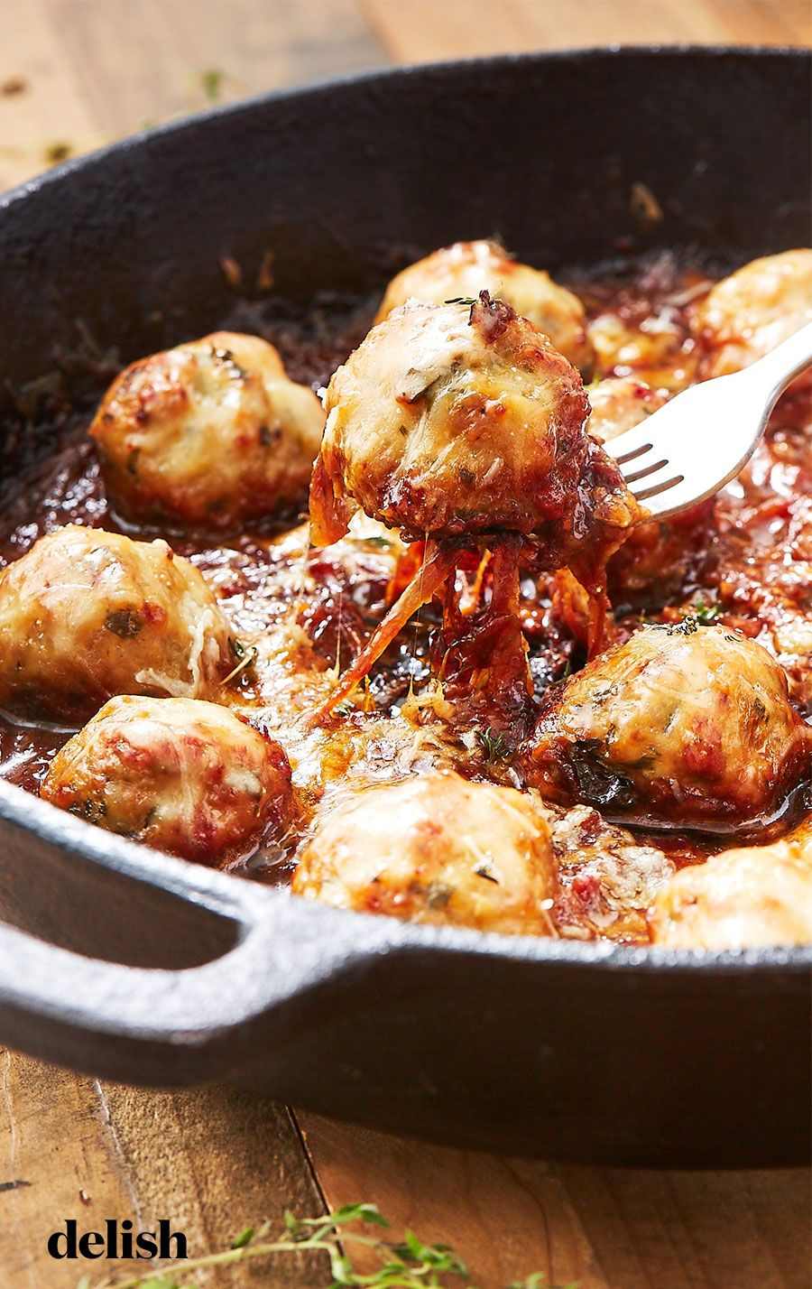 French Onion Chicken Meatballs images