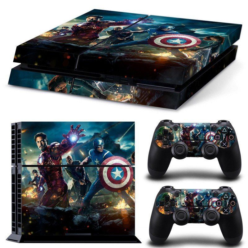 The Avengers Premium Vinyl Skin Sticker For Ps4 Console and Controllers Can only be found at Hero3D Shop! For Ps4 Console And Controller. High quality vinyl sticker for ps4 Covers front side, left sid