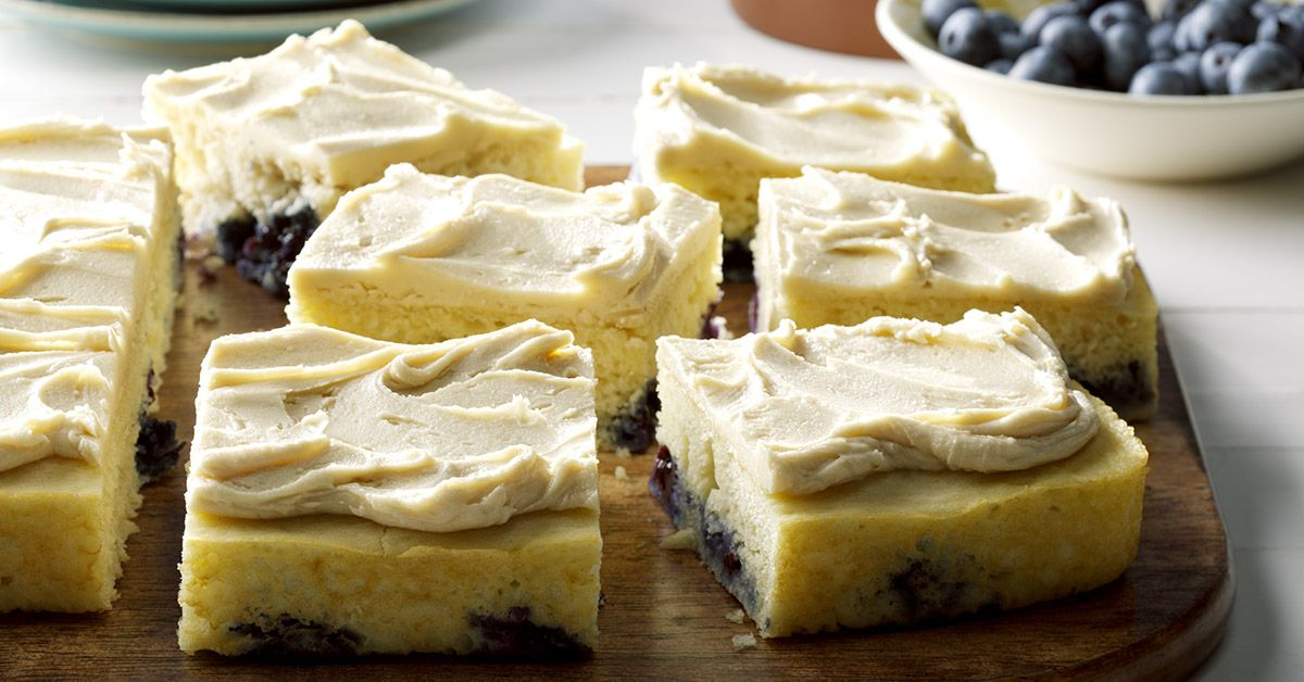 Blueberry Pan-Cake with Maple Frosting Recipe Maple frosting
