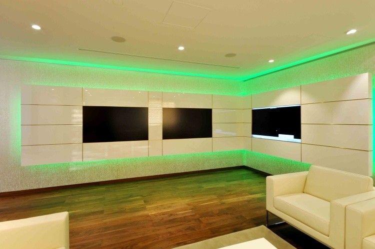 Mueble con LED integrado, unidades de pared asombrosas.