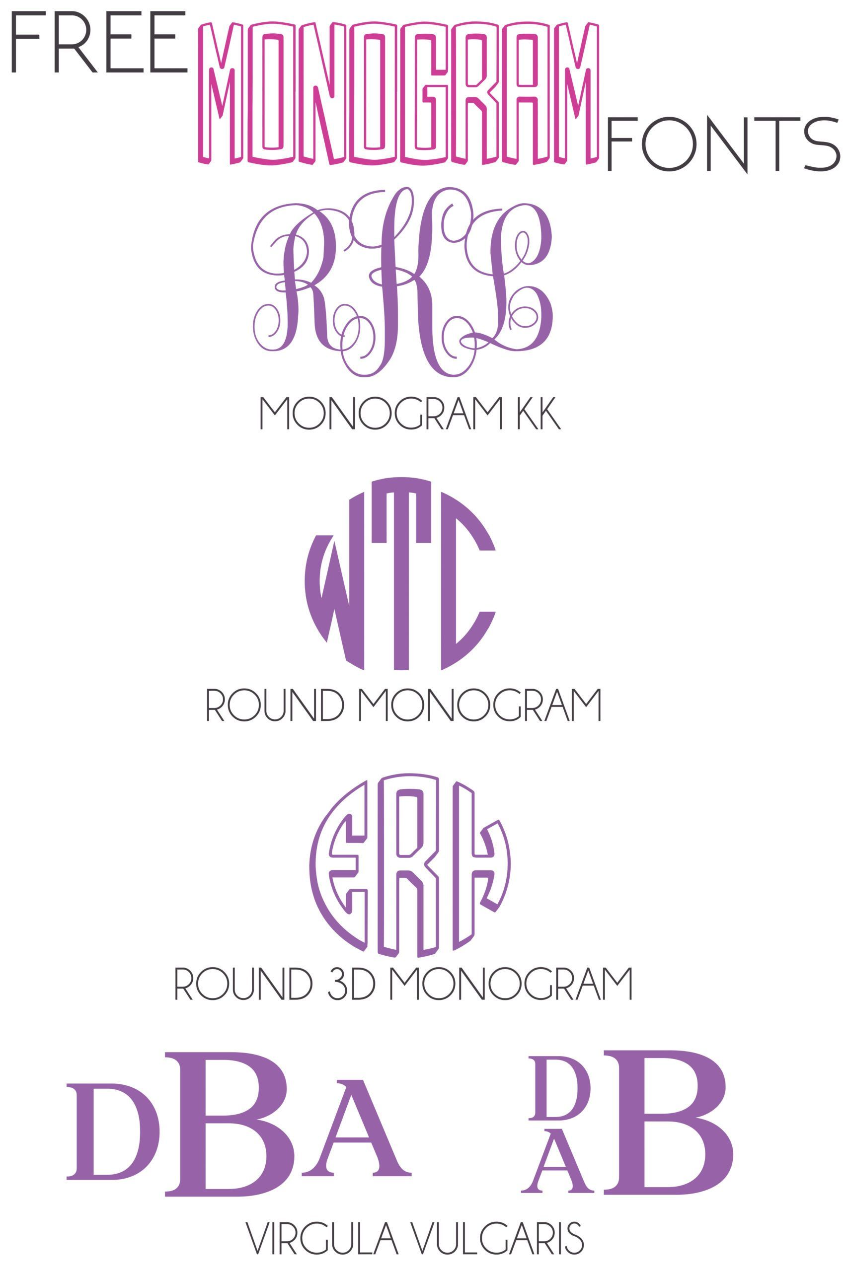 Download A collection of free monogram fonts you can use in cricut ...