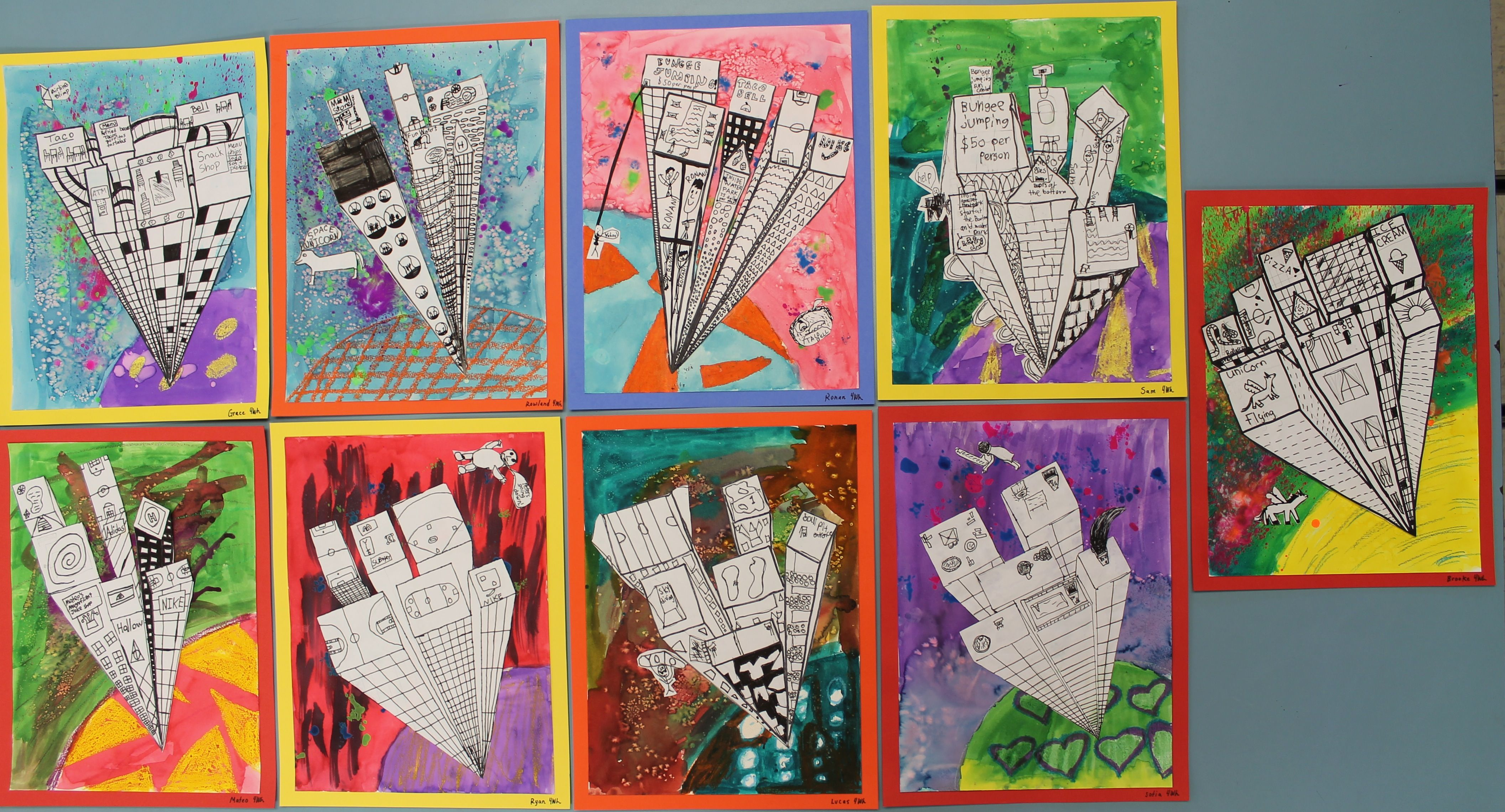 4th Grade One Point Perspective
