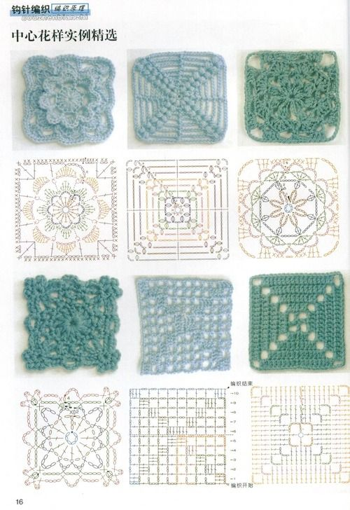 Häkelmuster, Quadrate | Projects to try | Pinterest | Crochet ...