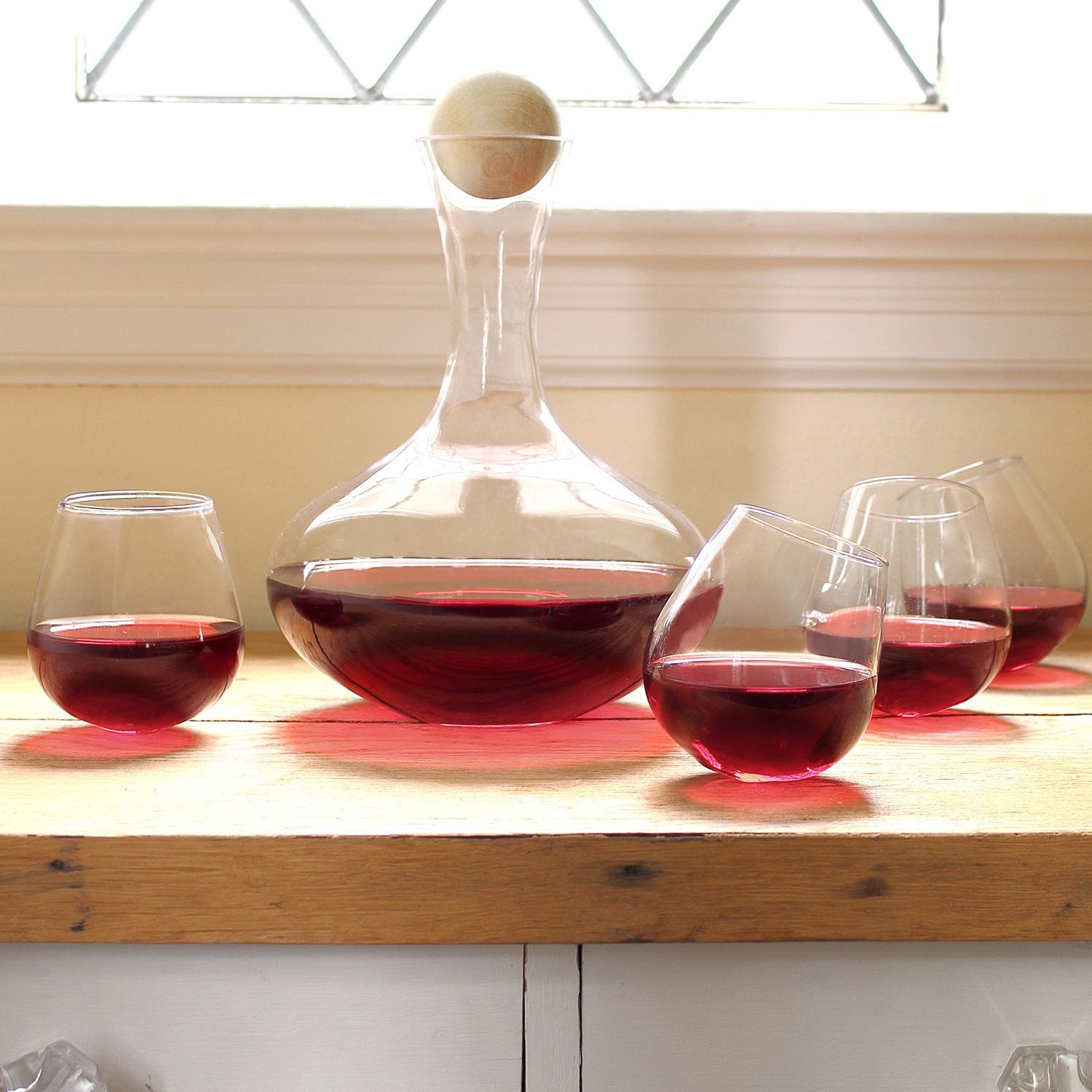 5 Piece Wine Decanter Tipsy Tasters Set Personalized Wine Decanter Wine Decanter Set Wine Glass Set