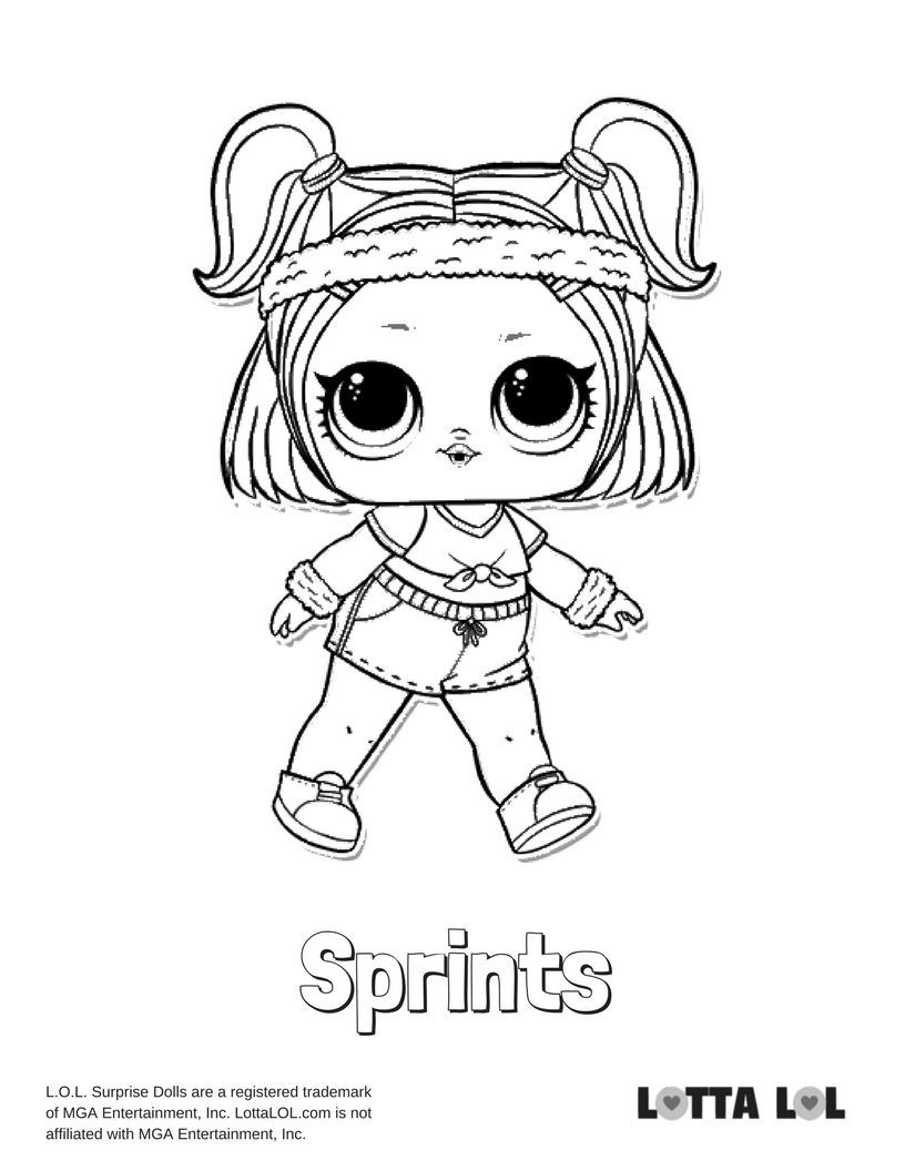 Sprints Coloring Page Lotta Lol Coloring Pages Cute Coloring Pages Cartoon Coloring Pages