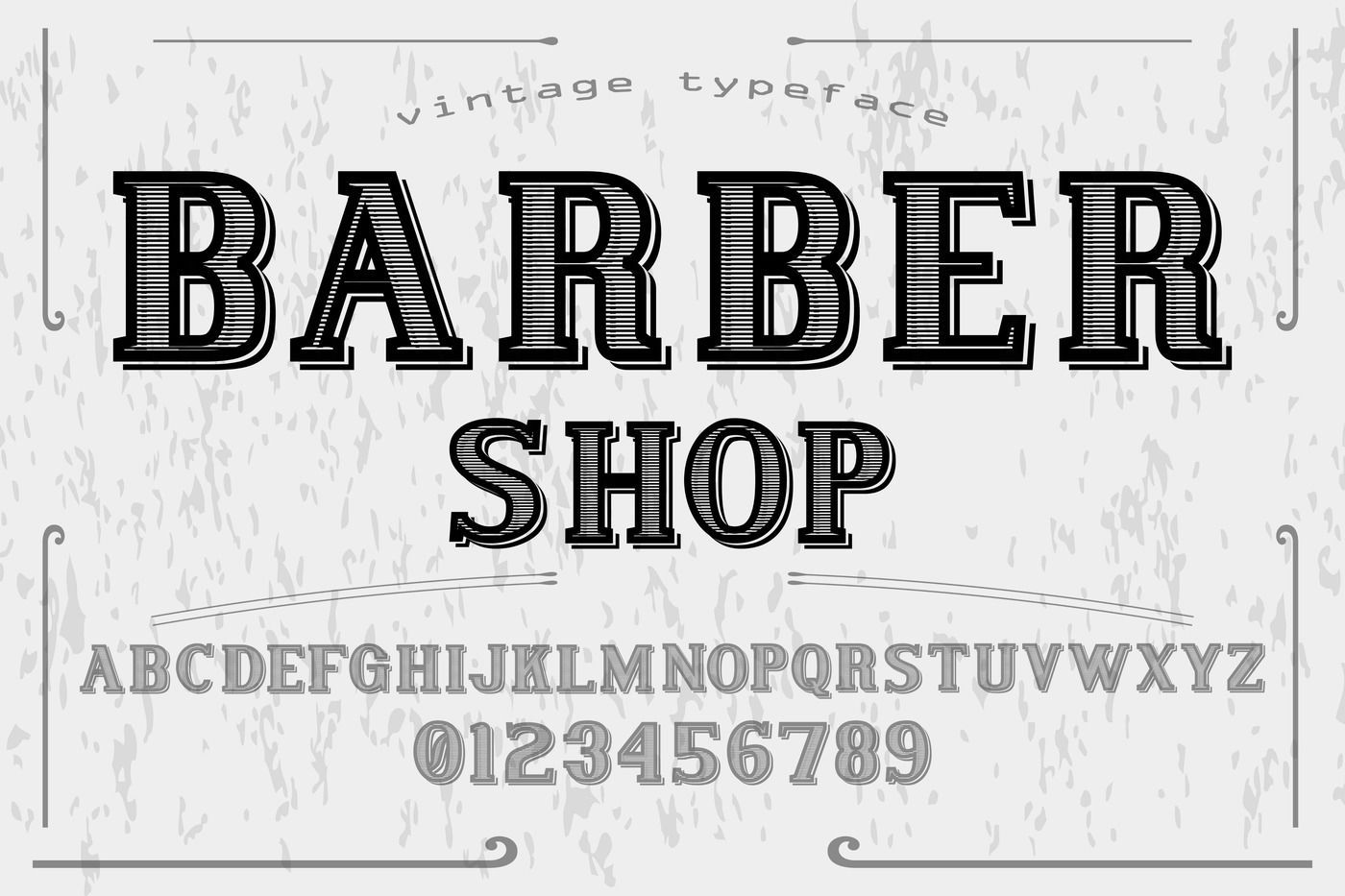 Vintage Alphabet Typeface Handcrafted Vector Label Design Barber By Vintage Font Thehungryjpeg Com Handcrafted Affiliat In 2020 With Images Vintage Fonts Label Design Typeface