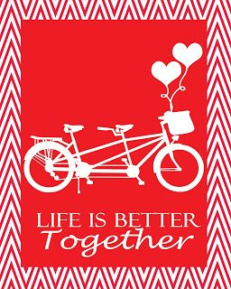 Valentines Day Print, Life is better together, Valentines Decor