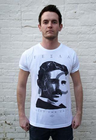 ec26f97c Nikola Tesla Graphic T-Shirt | Tesla | Vintage mens t shirts, T ...
