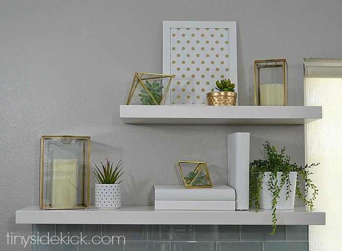How To Decorate Shelves My Easy 3 Step Formula Gold Home Decor Styling Shelves Home Decor