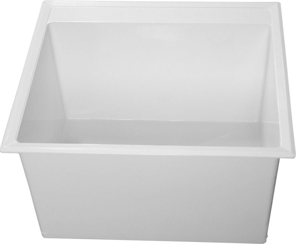 Fiat Residential Drop In Stone Laundry Sink Dl1100 White With