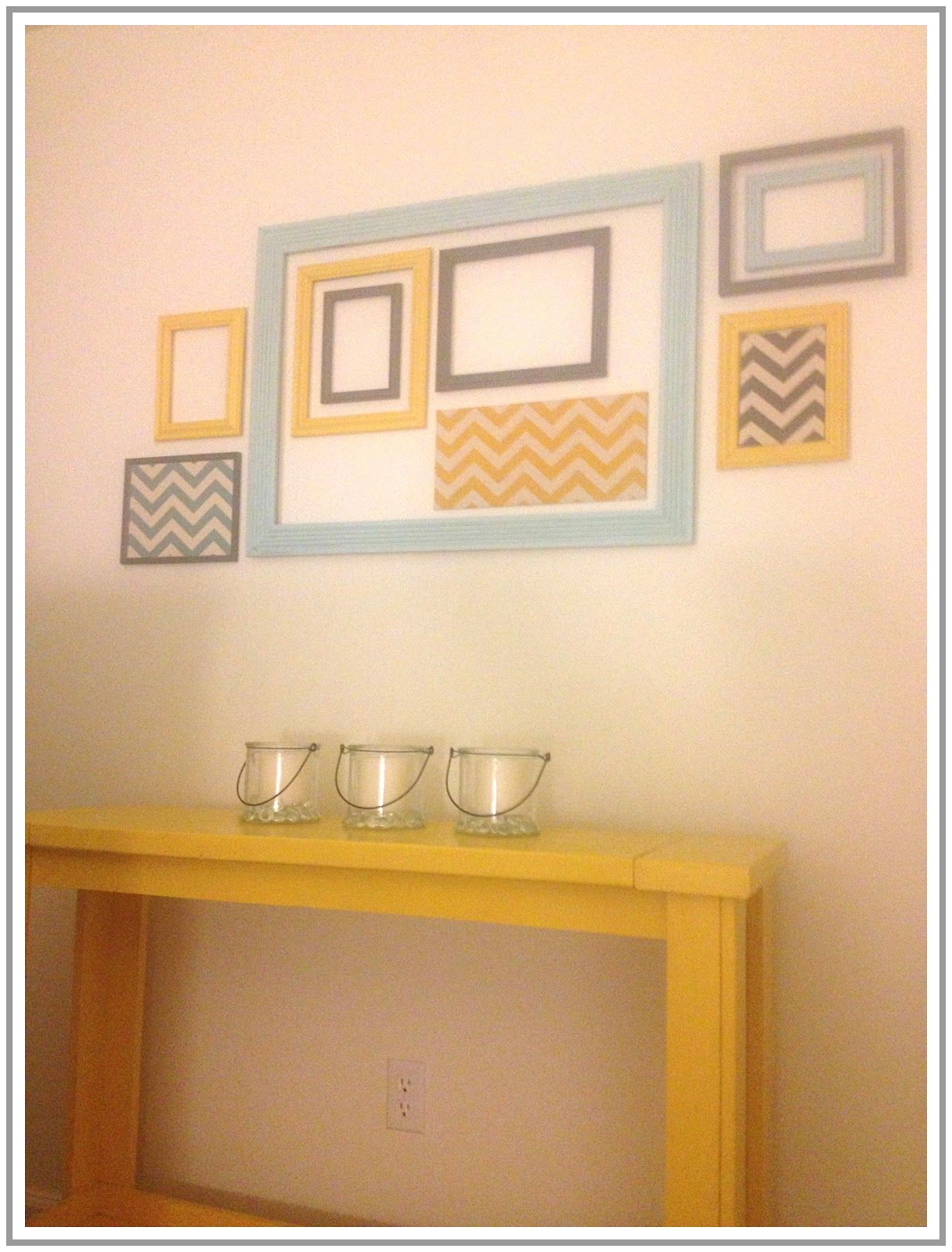 Chevron and empty frame wall decor { AutumnOstlund design, http ...