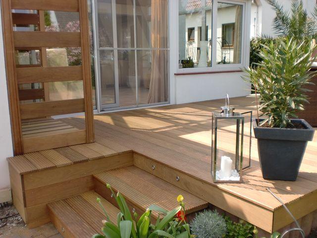 treppe aus ipe terrasse pinterest treppe bangkirai und terrassenbau. Black Bedroom Furniture Sets. Home Design Ideas