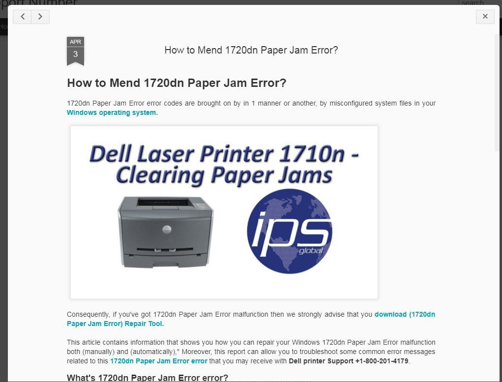 1720dn Paper Jam Error error codes are brought on by in 1