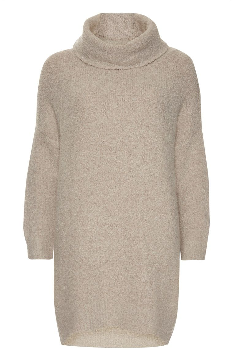 bd9fd2573e Primark - Cream Cowl Neck Boucle Jumper Dress