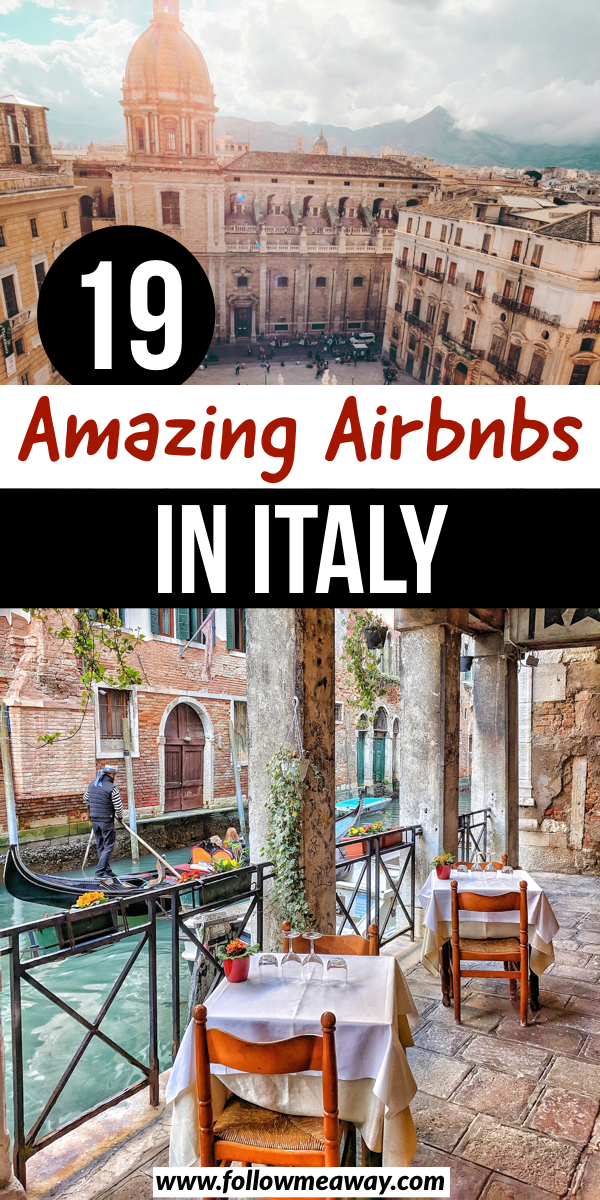19 Amazing Airbnbs in Italy | 19 best Airbnbs in Italy | 19 best Italy Airbnbs | where to stay in Italy | best cabins in italy | italy travel tips | cool places to stay in italy | rome airbnbs | venice airbnbs | milan airbnbs | florence airbnbs #airbnb #italy #italytravel #italyvacation #italytrip