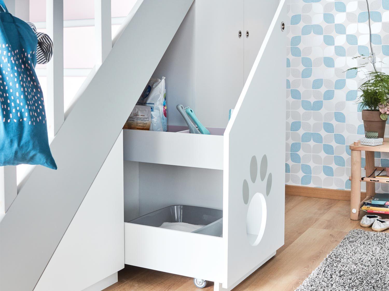 Realiser Une Litiere Sous Escalier Mobilier De Salon Sous Escalier Meuble Sous Escalier