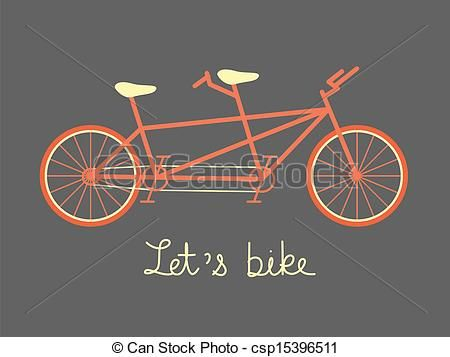 tandem bike vector - Google Search